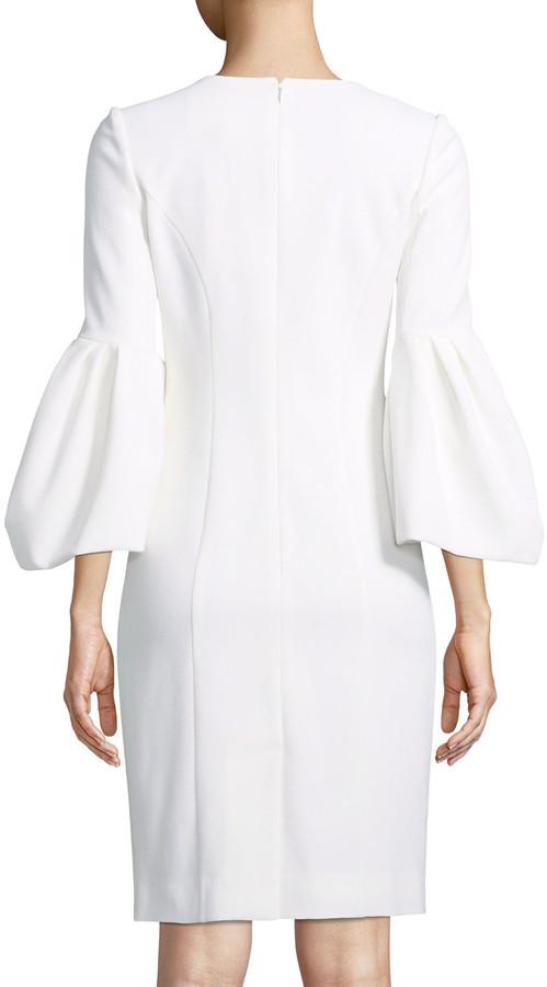 Thumbnail for your product : Carolina Herrera Blouson-Sleeve Cocktail Sheath Dress