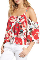 Cupcakes And Cashmere Fay Floral Off the Shoulder Top