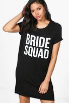 boohoo Charlotte Bride Squad T-Shirt Dress
