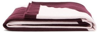 Allude Two-tone Cashmere Blanket - Pink Multi