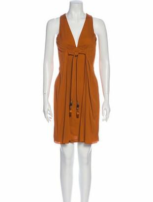 Gucci V-Neck Mini Dress Orange