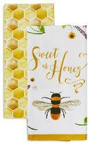 """Sur La Table Sweet as Honey Kitchen Towels, 28"""" x 18"""", Set of 2"""