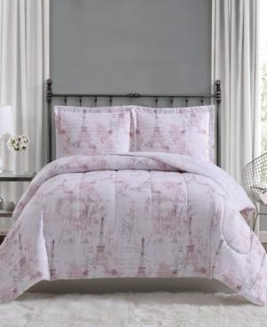 Pem America Paris 3-Pc. Full/Queen Comforter Mini Set, Created for Macy's Bedding
