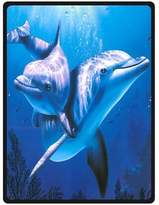 Dolphin Sea Fleece Blankets and throws 58 X 80 inch (Large)