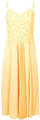 Noon By Noor Ray embroidered pleated dress