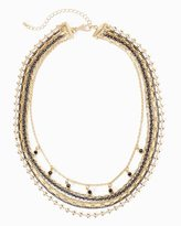 White House Black Market Goldtone Multi-Row Short Necklace