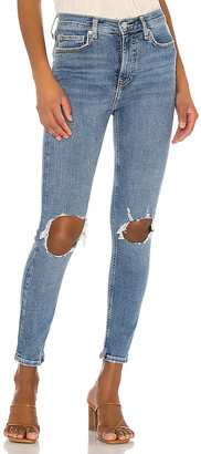 Free People High Rise Busted Skinny Jean