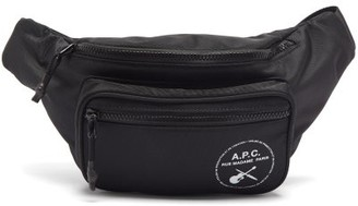 A.P.C. Logo-print Canvas Belt Bag - Black