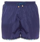Missoni Zigzag-striped Trim Swim Shorts