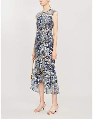Peter Pilotto Floral-print sleeveless lace dress