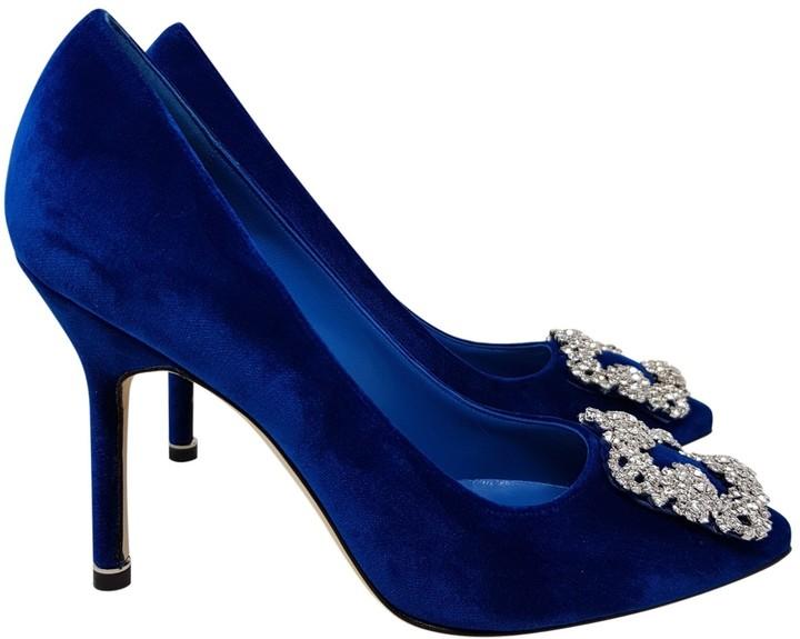 Blue Velvet Pumps | Shop the world's
