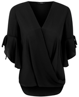 George Wrap Front Blouse