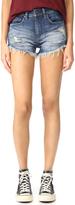 Blank Frayed Cutoff Shorts