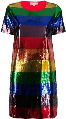 MICHAEL Michael Kors Rainbow sequin dress