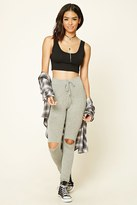 Forever 21 FOREVER 21+ Distressed Stretch-Knit Pants