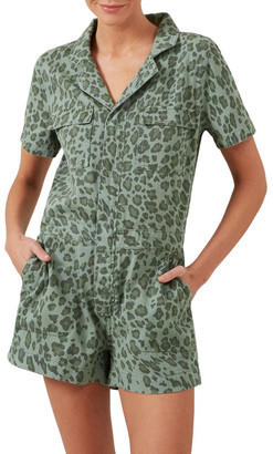 French Connection Animal Boiler Playsuit