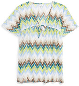 Milly Minis Chevron Print Cover-Up (Big Girls)