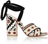 Gianvito Rossi Women's Cheyenne Ankle-Tie Sandals-BLACK