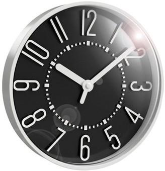 "Westclox 10"" Black Wall Clock, 10 In. Diam. X 1.4"