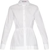Palmer Harding PALMER/HARDING Step-hem cotton-poplin shirt