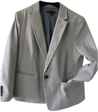 Ann Taylor Grey Cotton Jacket for Women