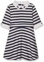 Yumi Girl's Nautical Stripe (Navy) Dress