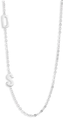 Argentovivo Personalized Two Initial Necklace