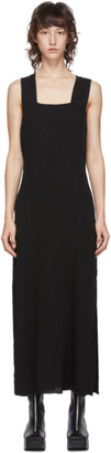 Raquel Allegra Black Apron Long Dress