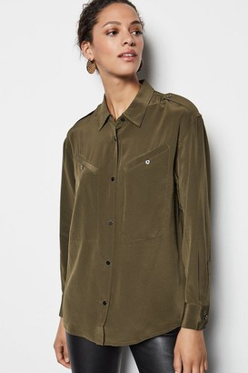Karen Millen Military Silk Shirt