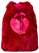 Wild & Gorgeous Red Faux Fur Heart Backpack