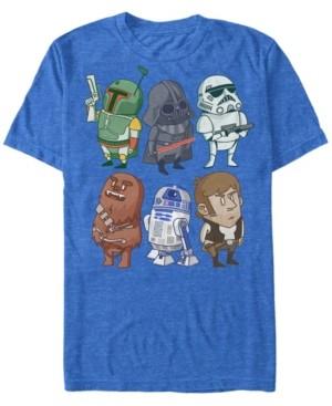 Star Wars Men's Classic Cute Cartoon Characters Short Sleeve T-Shirt