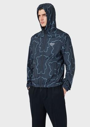 Emporio Armani Manga Bear Reversible Jacket With Hood