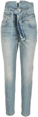 ATTICO High-Waisted Belted Jeans
