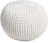 nuLoom Kelli Knitted Pouf, White