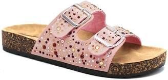 Blush B-Lush Alexis Bendel Women's Sandals BLUSH - Blush Rhinestone-Accent Peggy Slide - Women