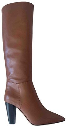 Maje Fall Winter 2019 Camel Leather Boots