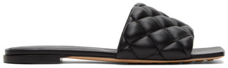 Bottega Veneta Black Intrecciato Padded Flat Sandals