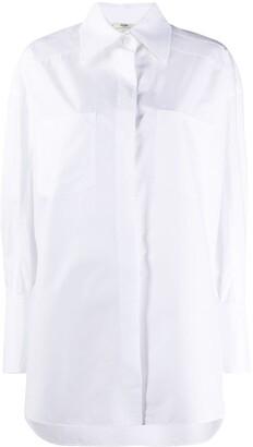 Fendi Cuff-Link-Detail Button-Up Shirt