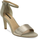 Tahari Novel Two-Piece Ankle-Strap Sandals