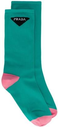 Prada Logo-Jacquard Ankle Socks