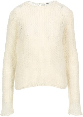 Jil Sander Crewneck Open Knit Jumper