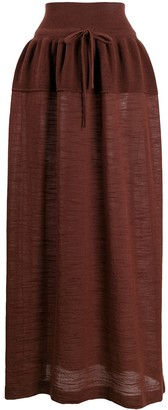 Lemaire Knitted Maxi Skirt