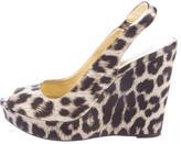 Stella McCartney Leopard Slingback Wedges