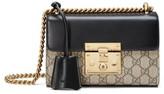 Gucci Small Padlock Gg Supreme Canvas & Leather Shoulder Bag - Beige