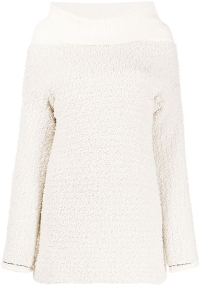 3.1 Phillip Lim Off The Shoulder Boucle Pullover