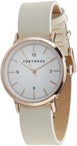 Tokyobay Tokyo Bay T394-NV Women's Stainless Steel Two-Tone Nylon Band White Dial Smart Watch