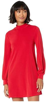 BCBGeneration Day Mock Neck Dress XYE65P56 (Ruby Red) Women's Dress