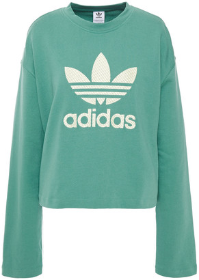 adidas Embroidered French Cotton-terry Sweatshirt