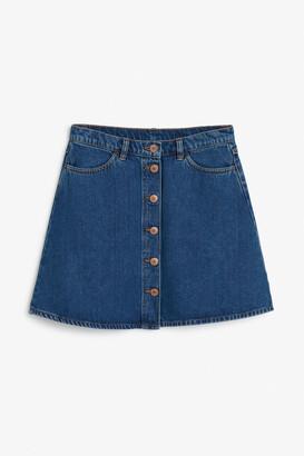 Monki Mini A-line denim skirt