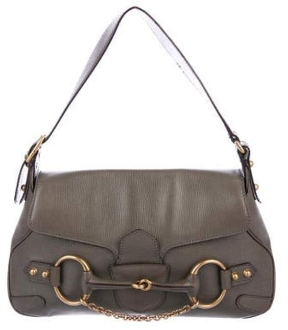 5d4afd4e39bc9 Leather Horsebit Hobo Grey Leather Horsebit Hobo